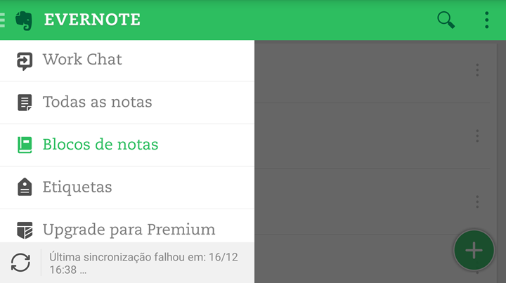 Fonte: EVERNOTE - Android