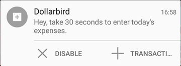 Fonte: DOLLARBIRD - Android